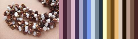 некоторые варианты цветового сочетания бус и одежды