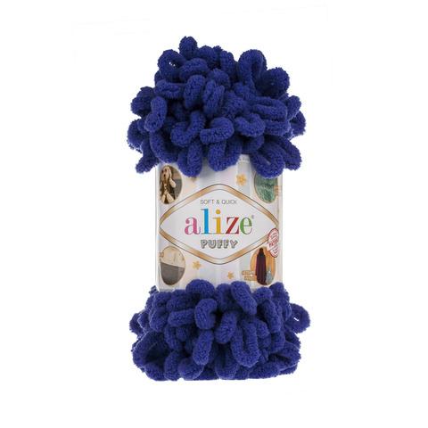 Купить Пряжа Alize Puffy Код цвета 360 Королевский синий | Интернет-магазин пряжи «Пряха»