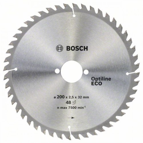 Диск по дереву Bosch 200х2,5х32 Optiline ECO Z48
