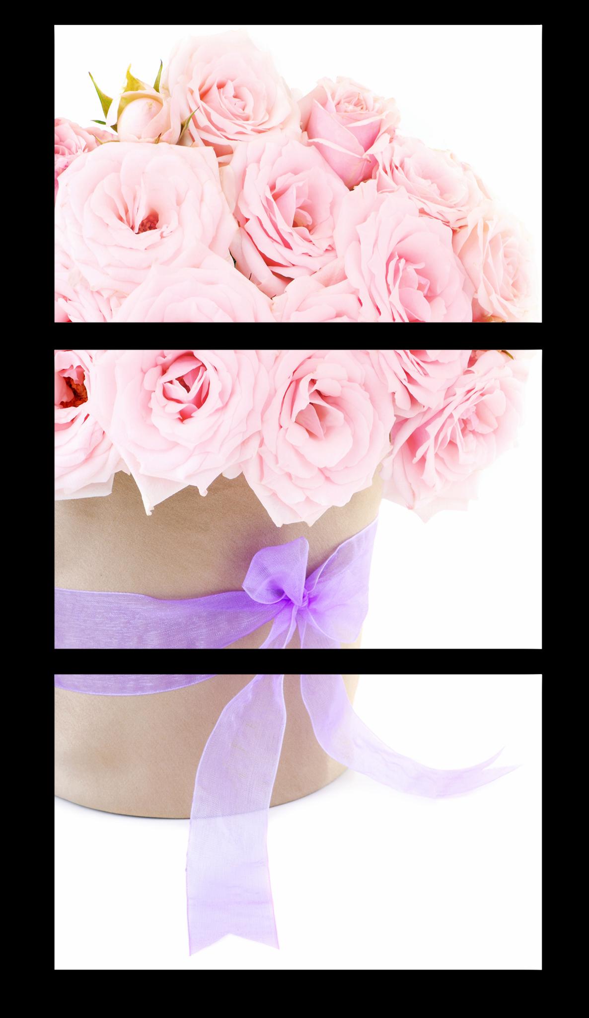 """Модульные картины Модульная картина """"Розовые розы"""" М1183.png"""