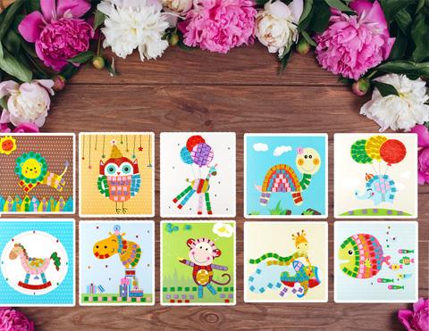 036_6607 Набор  8 открыток-аппликаций