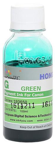 Чернила Dctec для Canon Pixma PRO, пигментные зеленые (Green), 100 мл (Серия 193650)