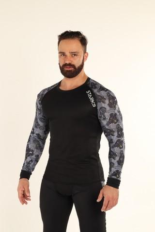 Starks, Кофта STARKS Long shirt Coolmax, Серый принт Мотоциклы)