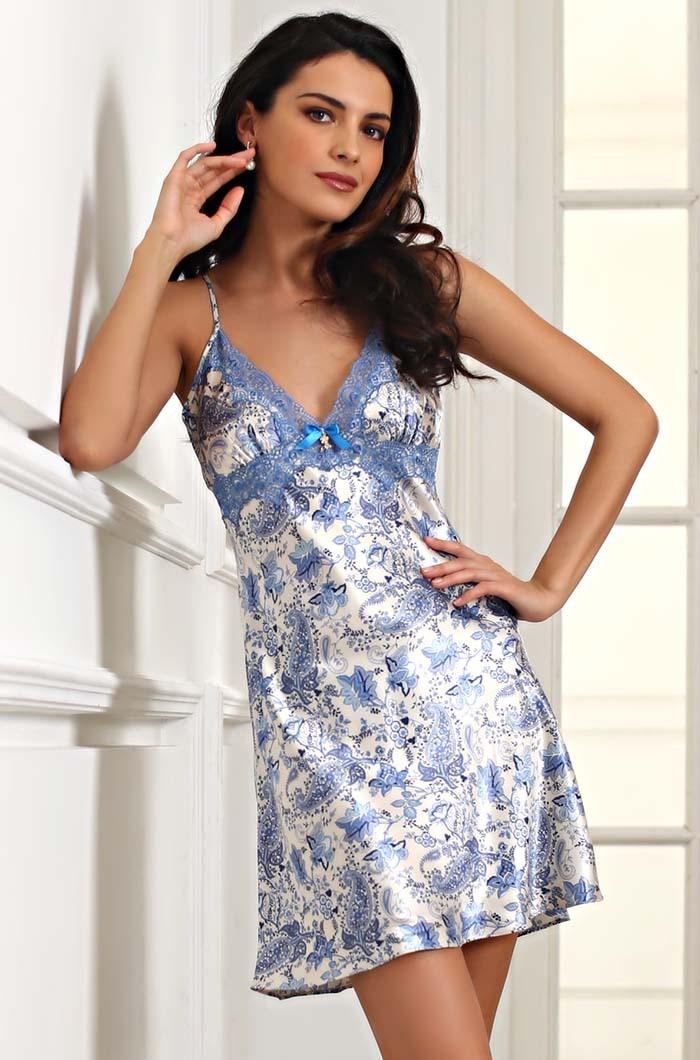 MIA-MIA (Италия) Сорочка женская ночная шелковая MIA-Amore  Дольче Вита  5914 5914.1.jpg