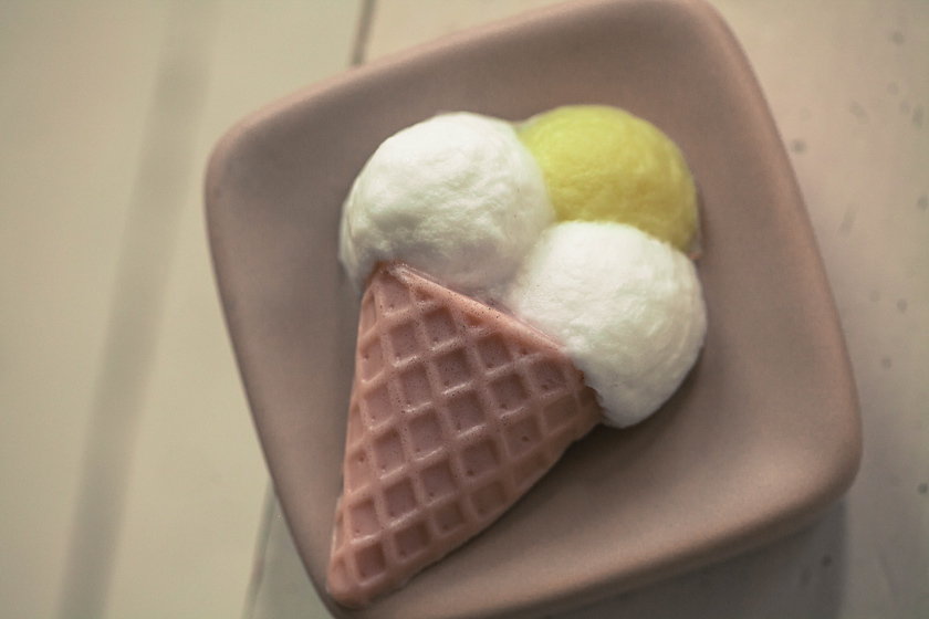 Мыло Мороженое в рожке. Пластиковая форма