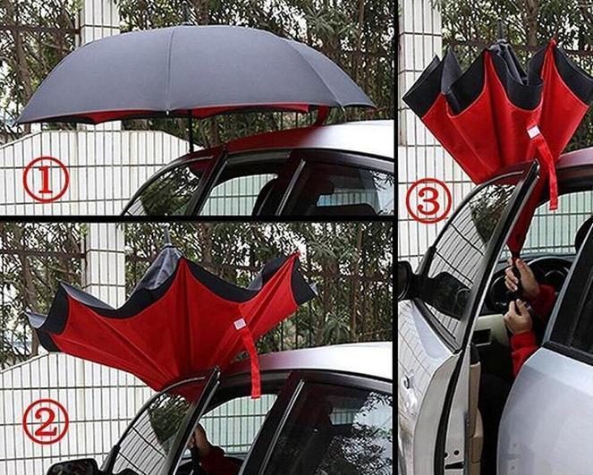 Зонт легко собирается