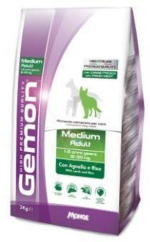 Gemon Dog Medium Adult Lamb & Rice