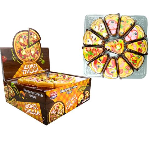 Шоколадная паста с печеньем и игрушкой ШОКО ПИЦЦА 1кор*12бл*24шт 12гр.