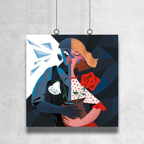 Картина «Кай и Герда» 30х30см или 80х80см