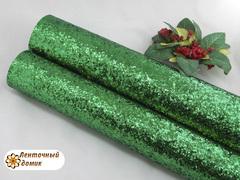 Глиттер крупный на тканевой основе зеленый