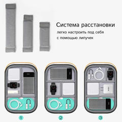 Органайзер для проводов и аксессуаров WiWU Storage серый