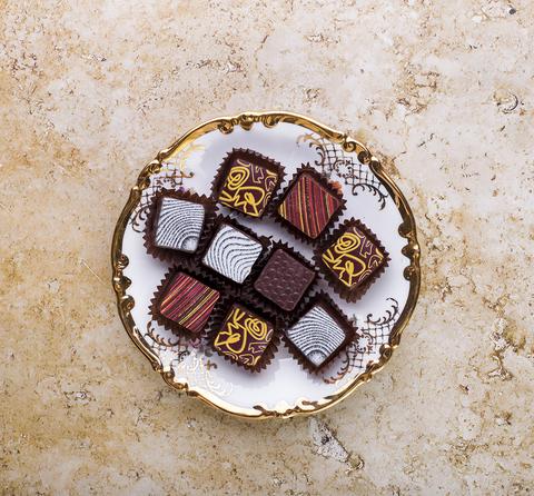 Шоколадные конфеты со вкусом лайма