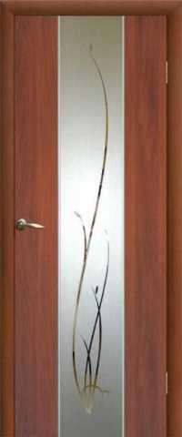 Дверь Сибирь Профиль Рассвет, цвет итальянский орех, остекленная