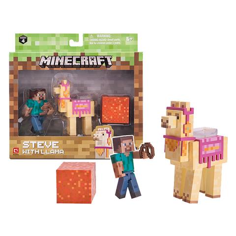 Набор фигурок Minecraft Steve with Llama 8см
