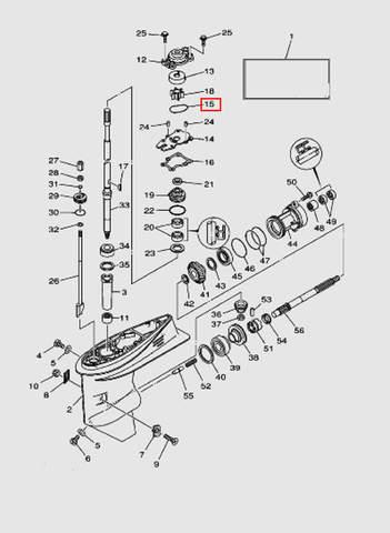 Кольцо помпы для лодочного мотора T40 Sea-PRO (23-15)