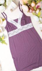 Евромама. Комплект халат и сорочка с кружевом из вискозы, лиловый вид 8