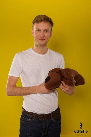 Подушка-игрушка «Мохнатый Патрик Коричневый»-2