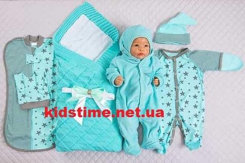 Нарядный комплект на выписку для новорожденных Лапушка