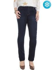 1046 джинсы женские утепленные, синие