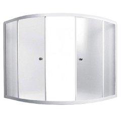 Шторка для ванны 1Marka Luxe 4604613103590 153х153х140 MS каркас хром