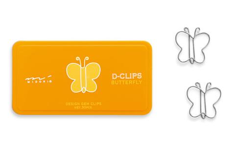 Скрепки Midori D-Clips Butterfly (30 шт.)