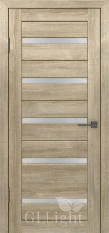 Дверь GreenLine Light 7, стекло сатинат белое, цвет дуб мокко, остекленная