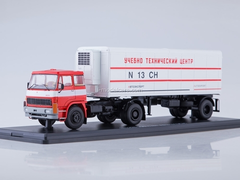 LIAZ 100.471 with semitrailer Alka N13CH white-red 1:43 Start Scale Models (SSM)