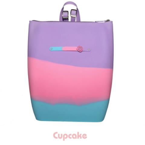 Маленький силиконовый рюкзак на молнии цвет Cupcake Gummy Bags
