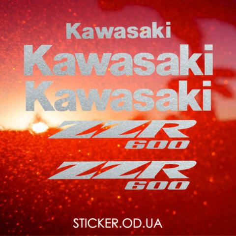 Набор наклеек на мотоцикл KAWASAKI ZZR 600 2005-2007