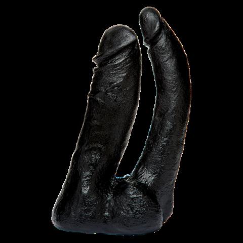 Насадка на страпон для двойного проникновения Vac-U-Lock - CodeBlack - Double Penetrator