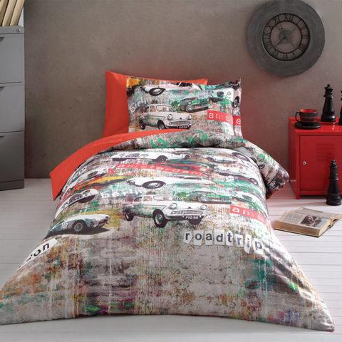 Детское постельное белье GARAGE  1.5сп  deluxe TIVOLYO HOME Турция