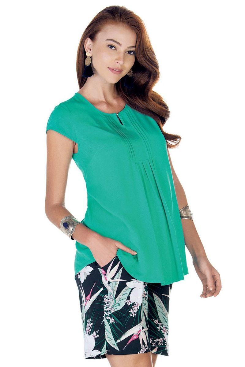 Блузка для беременных 09424 зеленый