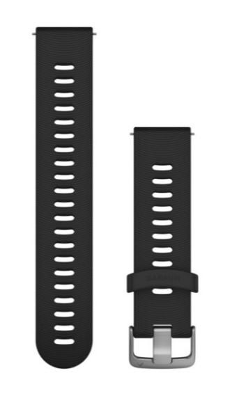 Силиконовый ремешок Garmin черного цвета