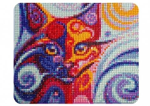 Сказочная кошка- алмазная картина, MP002