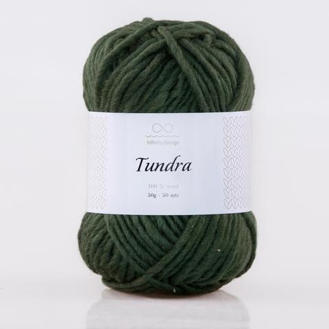 Пряжа Infinity Tundra 8571 темно-зеленый