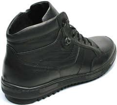 Зимние черные кеды ботинки мужские Ikoc 1608-1 Sport Black.