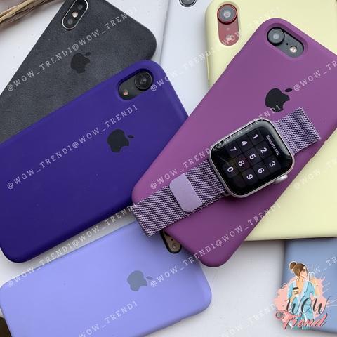 Ремешок Apple watch 38/40mm Milanese Loop /glycine/ гортензия