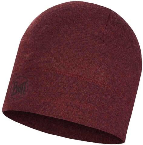 Шерстяная шапка 250 гр/м Buff Hat Wool Midweight Wine Melange