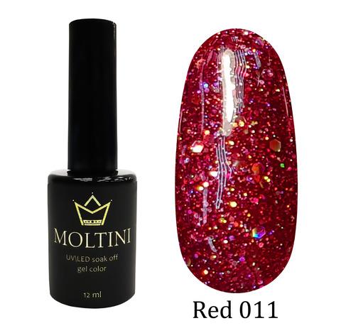 Гель-лак Moltini RED 011, 12 ml