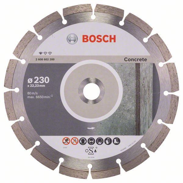 Алмазный диск Standart for Concrete 230-22,23 Bosch 2608602200