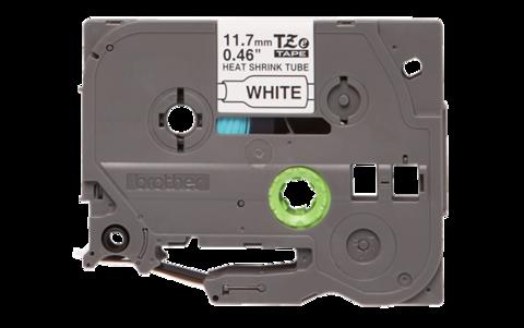 Термоусадочные ленты HSE-241 чёрный шрифт на белой основе, 17,7 мм * 1,5 м для Brother PTE300VP, PTE550WVP, PTP700, PTP750W, PTP900W