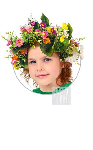 Фото Весна - Лето ( венок ) рисунок Карнавальные костюмы времена года - популярные образы детских утренников и досугов. В этом разделе представлены разнообразные модели времен года и явлений природы.