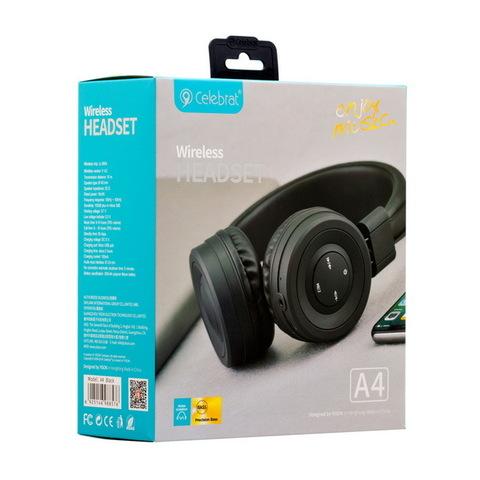 Наушники Bluetooth Celebrat A4, black
