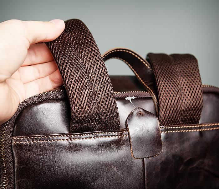 BAG460-2 Мужской городской рюкзак из натуральной кожи фото 08