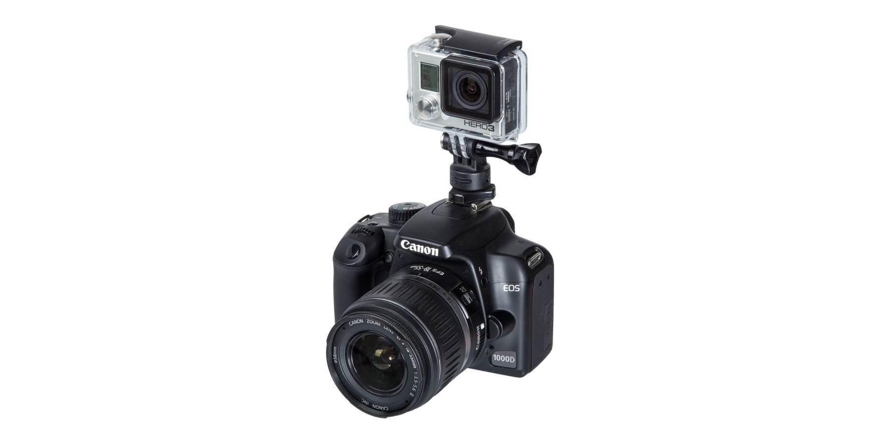Крепление на фотокамеру SP Hot Shoe Mount пример использования с камерой