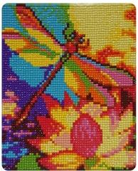 Красочная стрекоза-алмазная картина, MP006