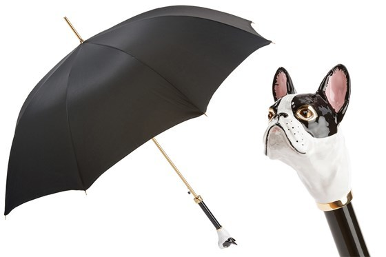 Зонт-трость Pasotti French Bulldog Umbrella, Италия (арт.479 Oxf-18 K61bi)