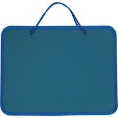 Папка портфель на молнии синий с ручками