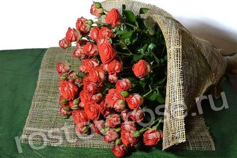 Букет кустовых роз Задиак