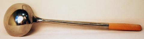 Ложка для вока, Wolmex 3#, нержавеющая сталь, деревянная ручка